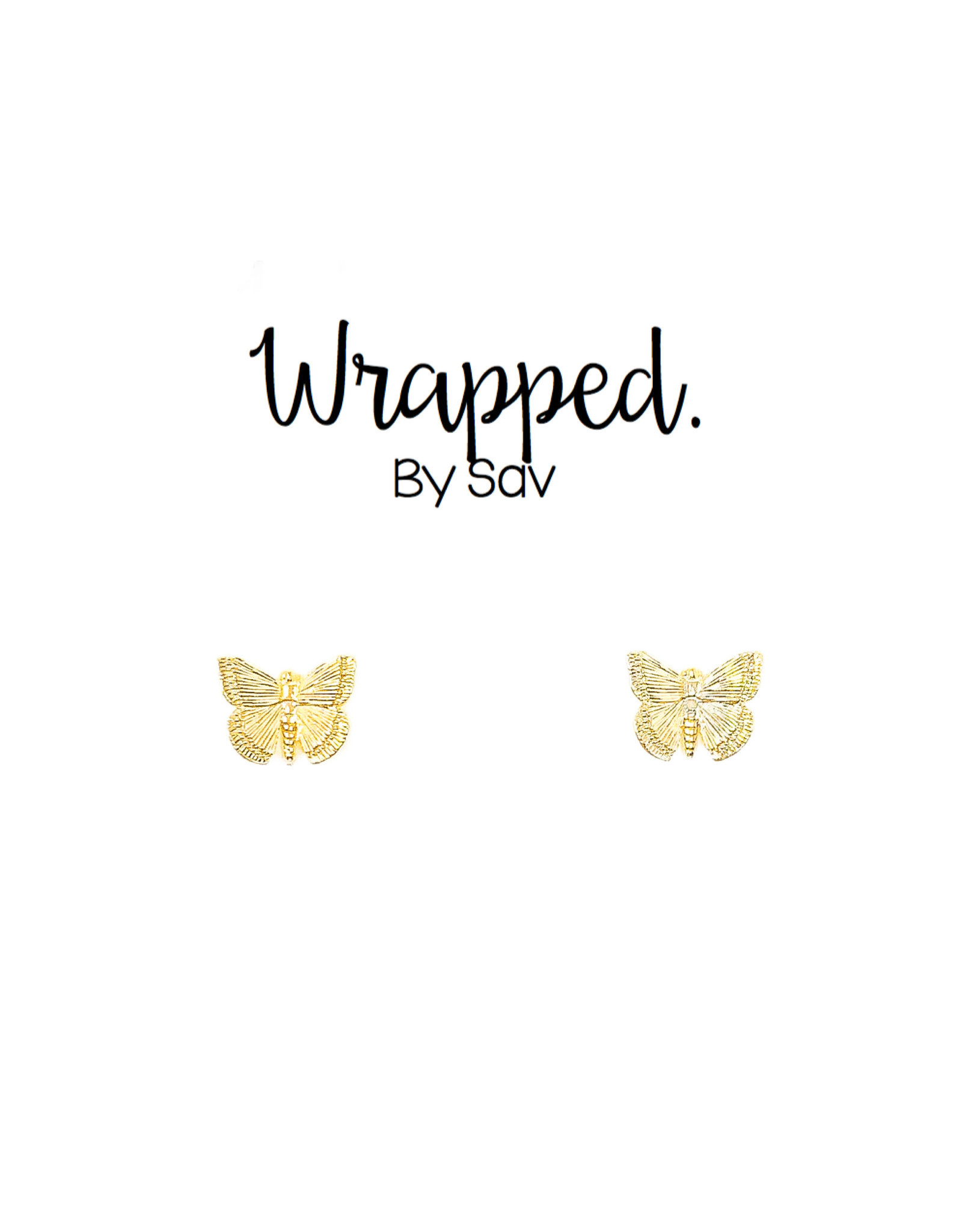 Wrapped by Sav butterfly studs