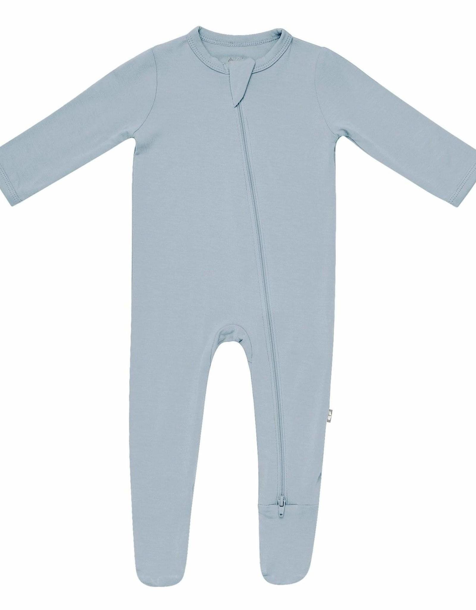 Kyte Baby zippered footie- fog