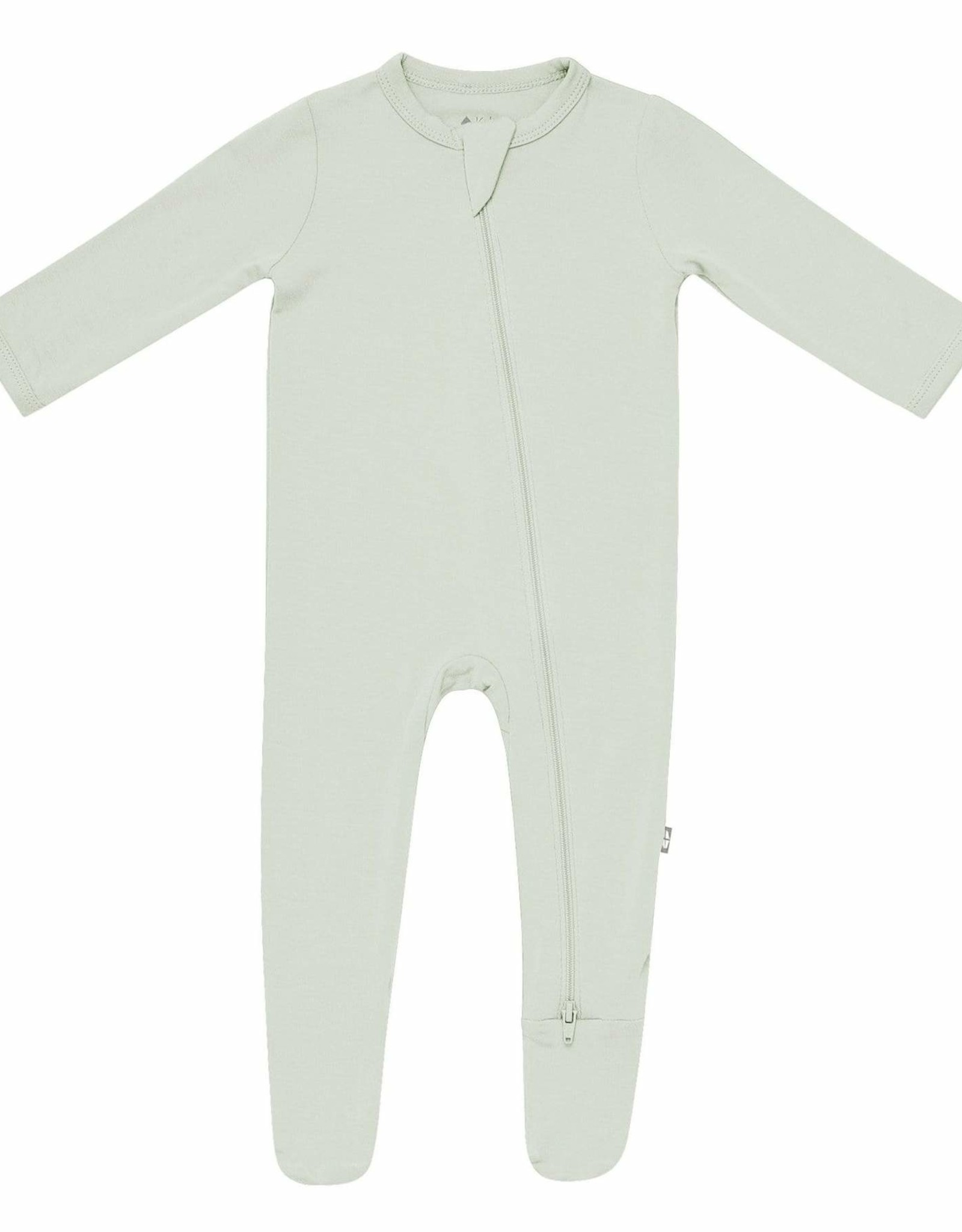 Kyte Baby zippered footie- aloe