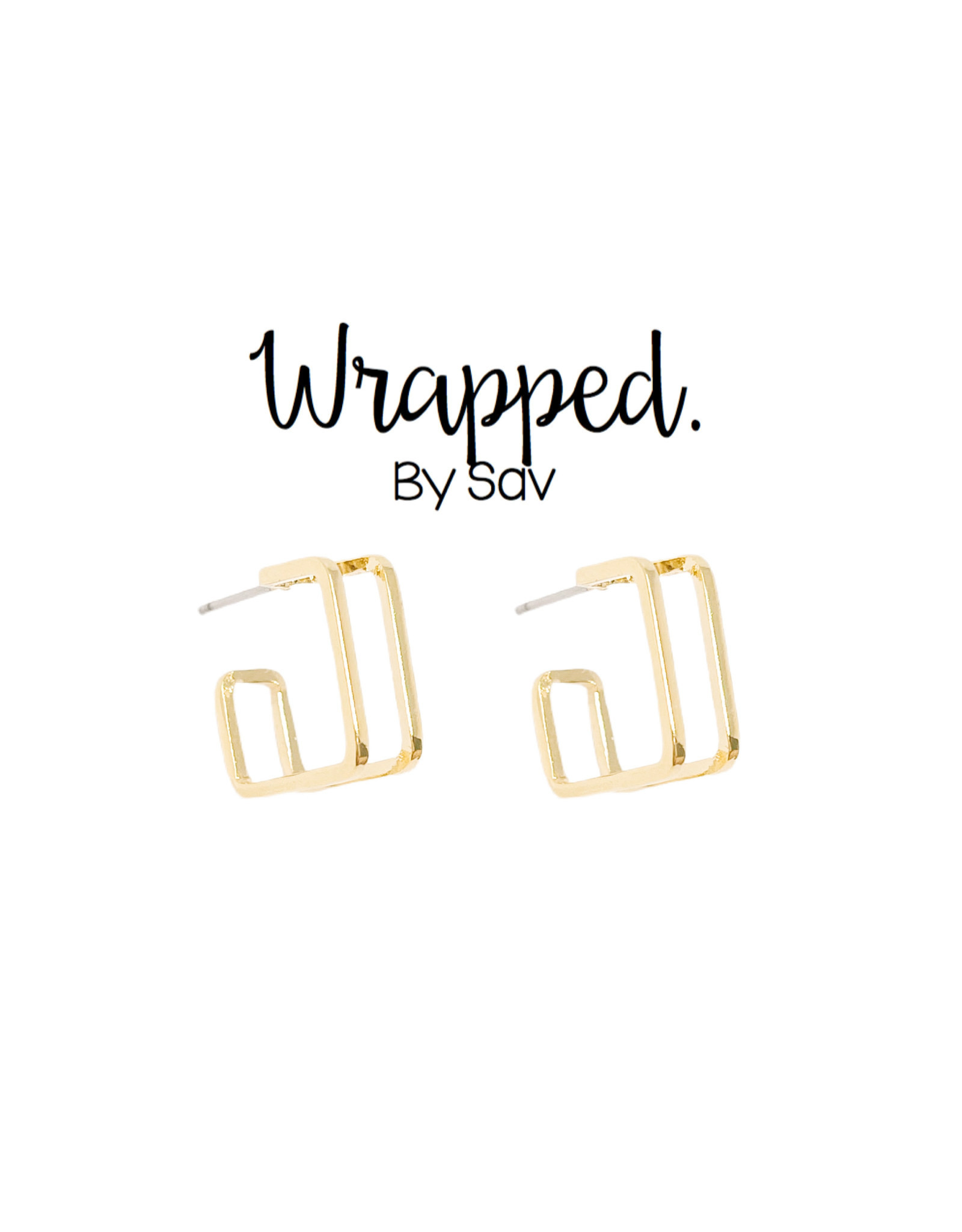 Wrapped by Sav square hoops