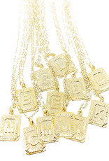 Wrapped by Sav initial plate necklace