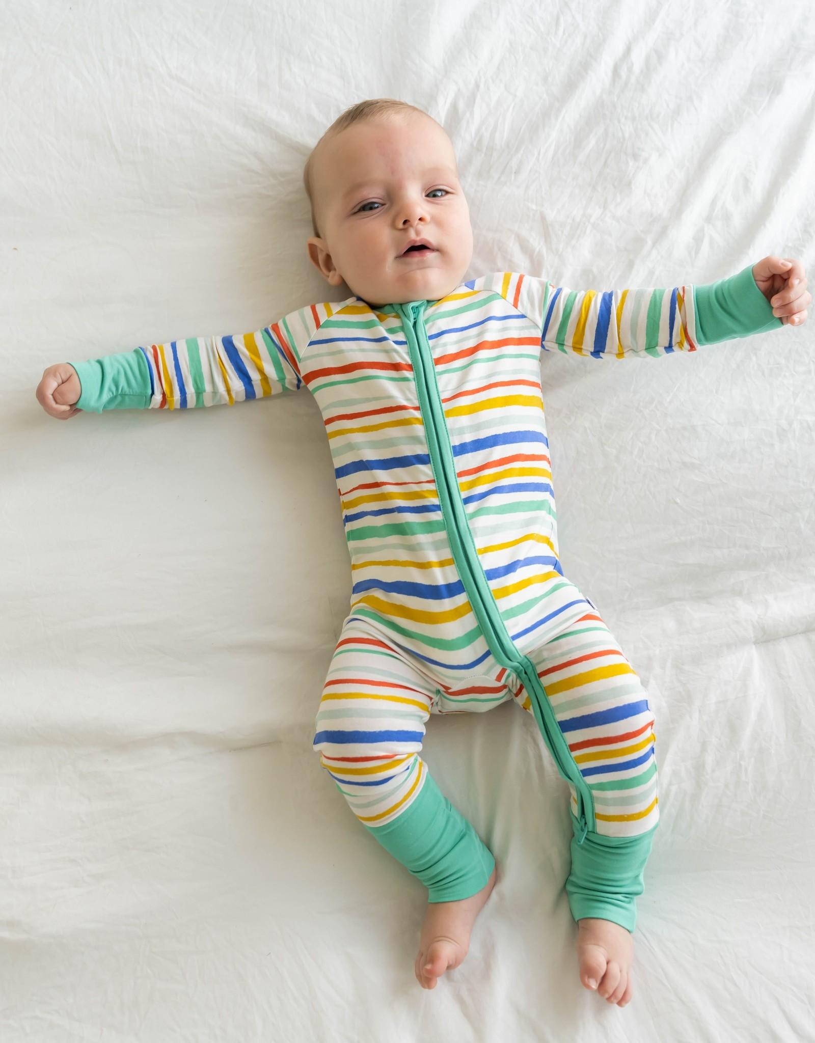 Little Sleepies summer stripe zippy