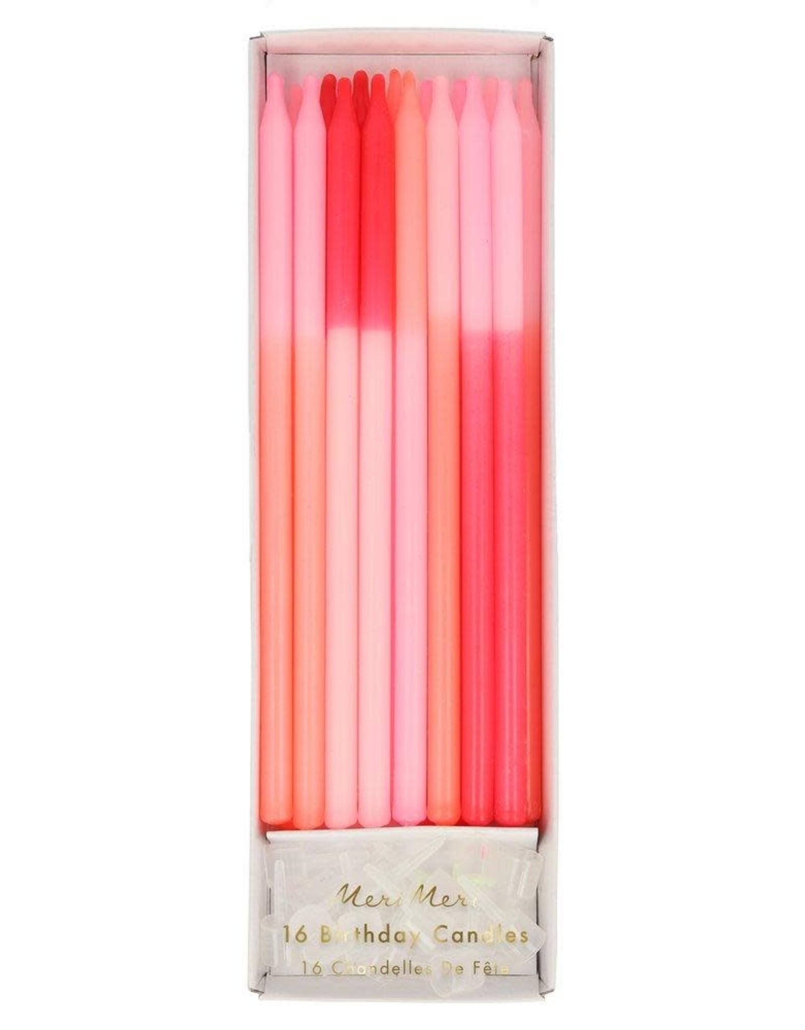 Meri Meri pink color block candles
