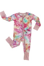 Little Sleepies cotton candy tie-dye zippy