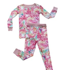 Little Sleepies cotton candy tie-dye pajamas