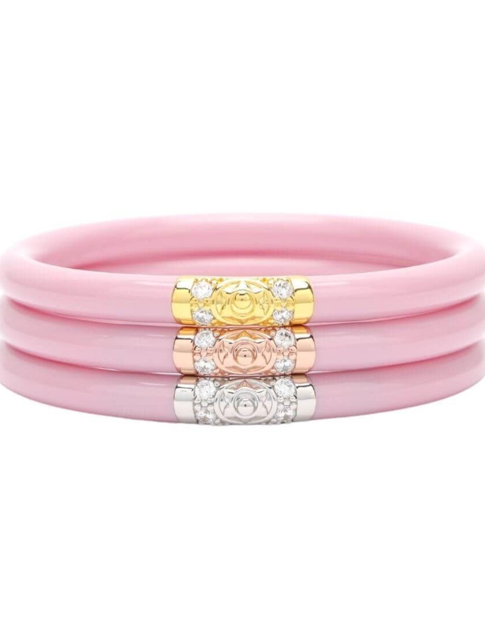 BuDhaGirl bangles (set of 3)- pink three kings
