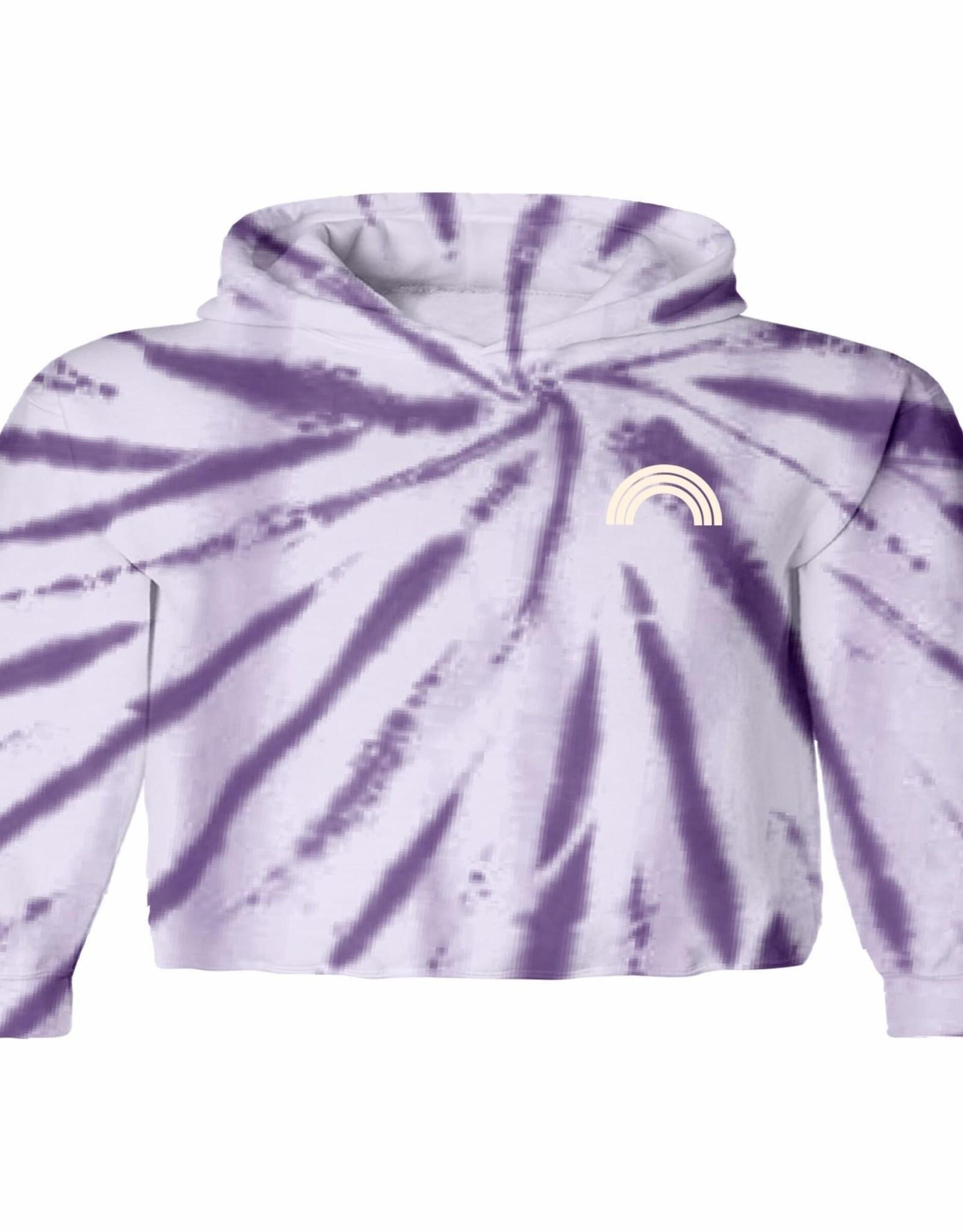 Tiny Whales purple skies hoodie