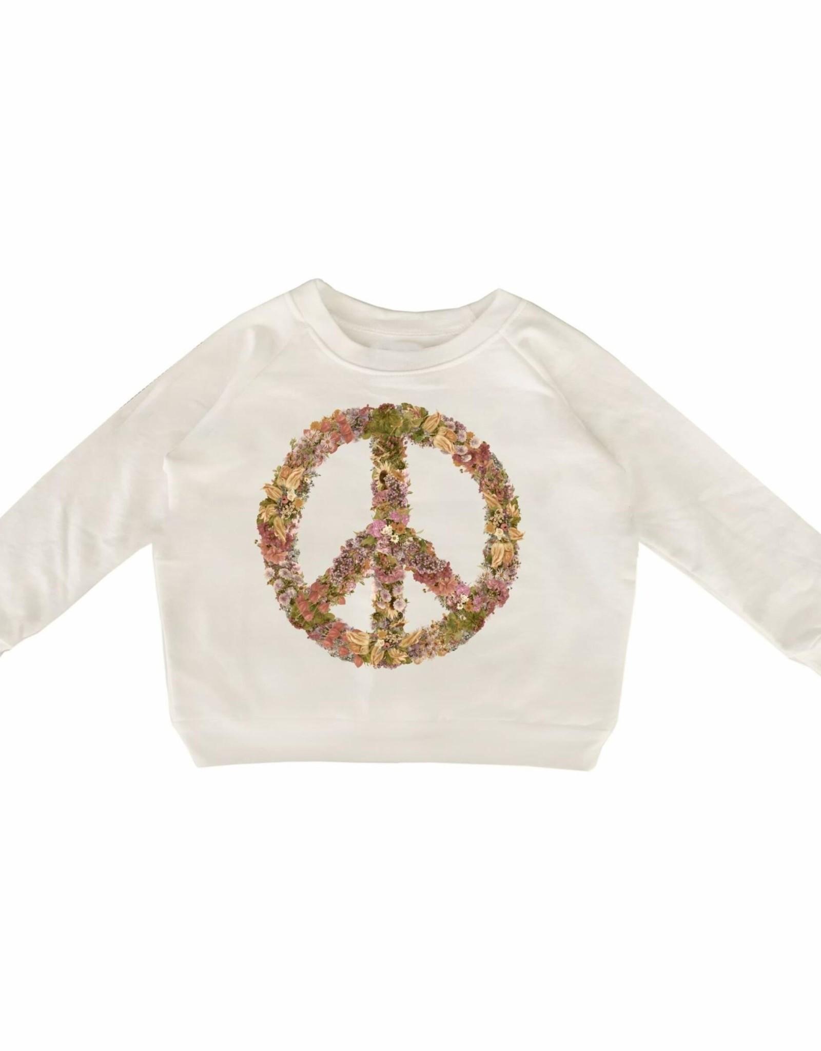 Tiny Whales peace flowers sweatshirt