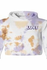 Tiny Whales peace & love hoodie