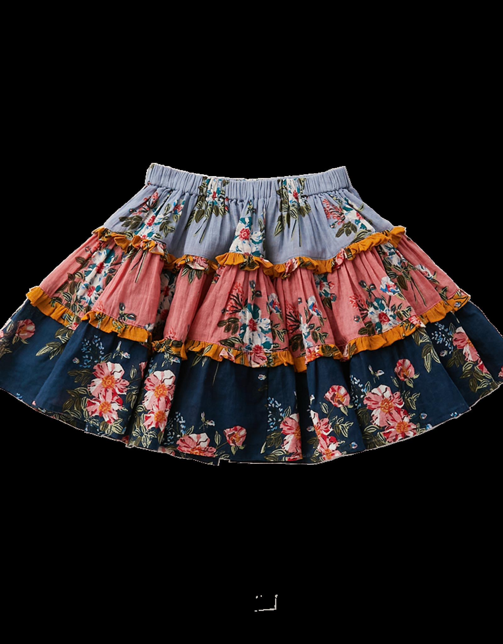 Pink Chicken allie skirt- florals