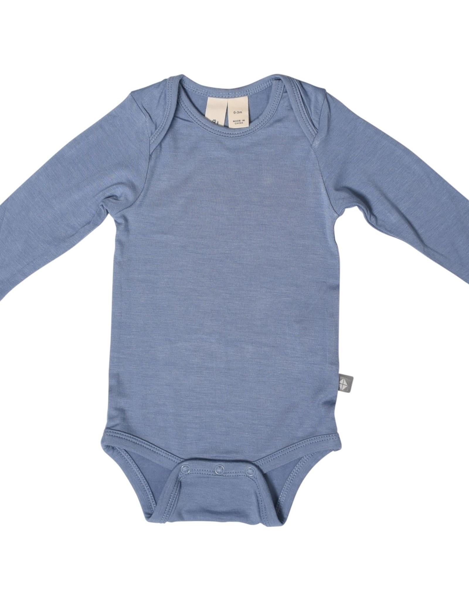 Kyte Baby l/s bodysuit - slate