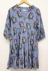 Pink Chicken raimie dress- blue