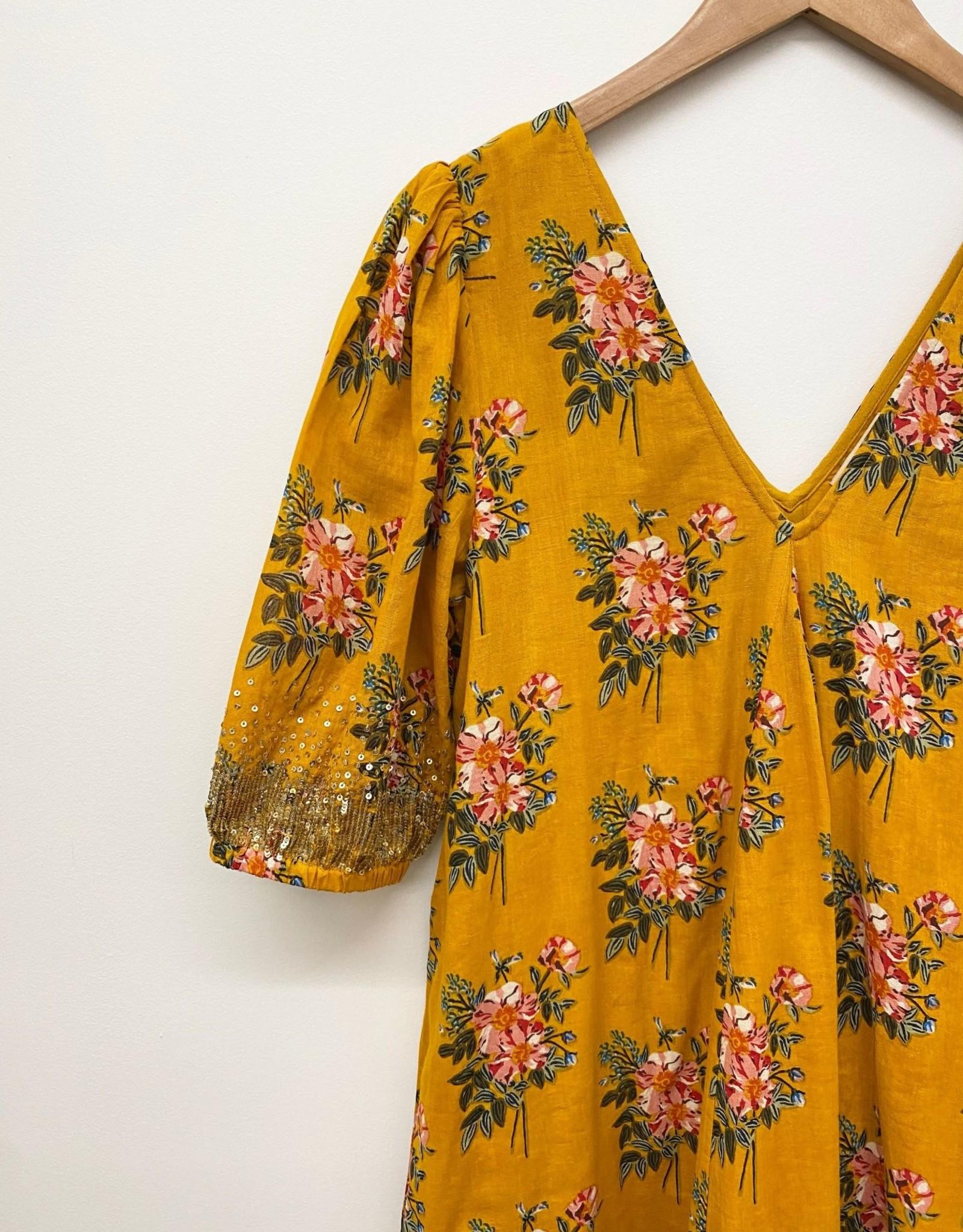 Pink Chicken emmerson dress- gold