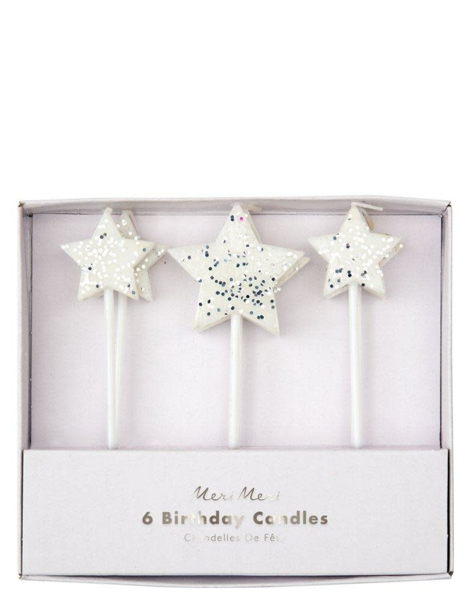 Meri Meri silver star candles