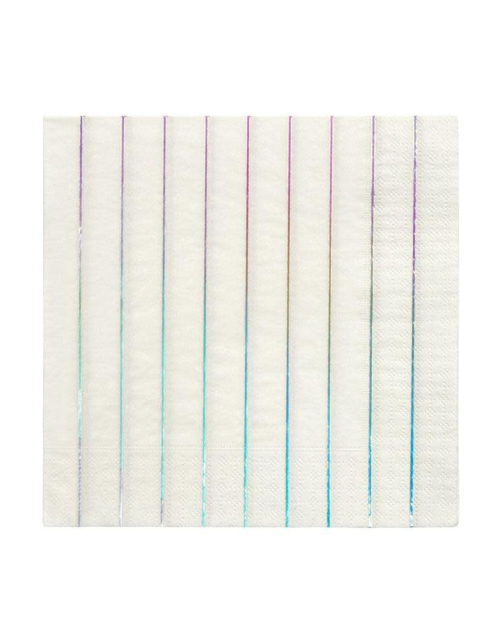 Meri Meri silver holographic napkin- large