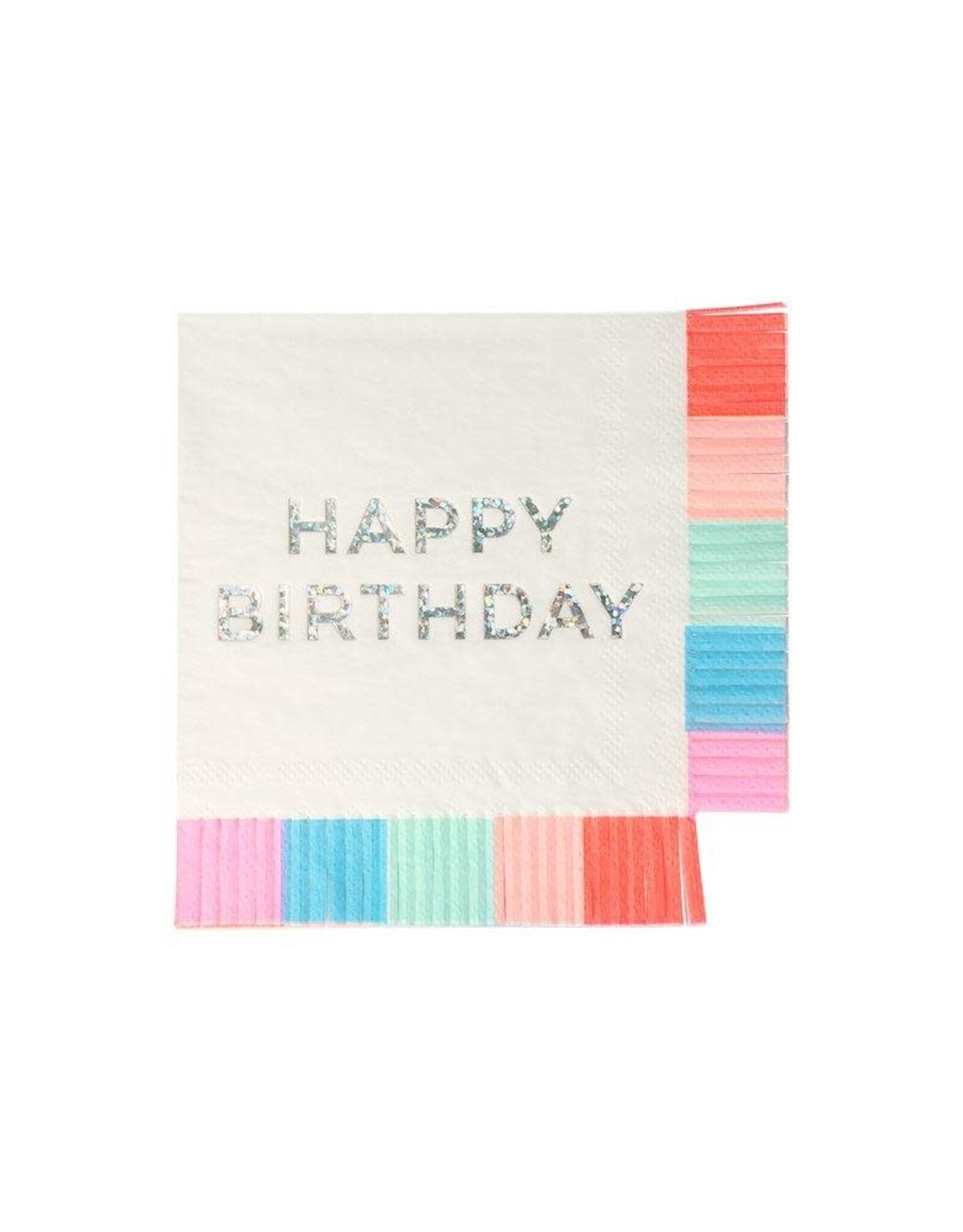 Meri Meri birthday fringe napkins