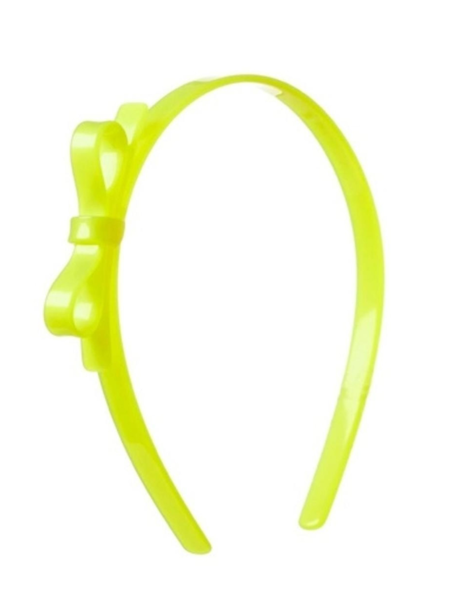 Lilies & Roses HB thin bow- neon yellow