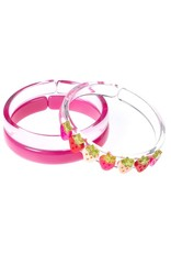 Lilies & Roses strawberry bangles set