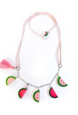 Lilies & Roses watermelons necklace