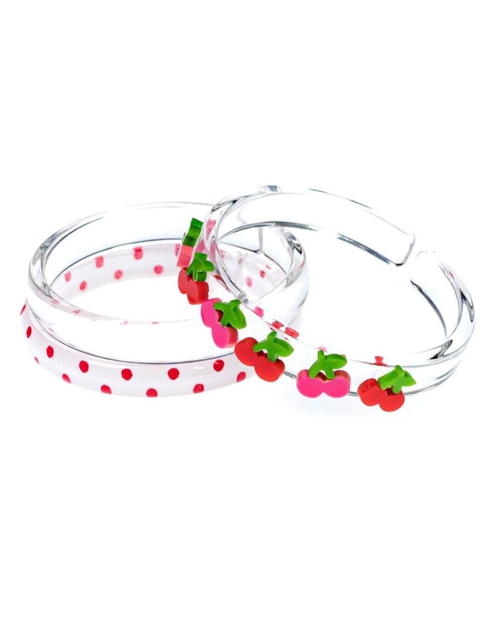 Lilies & Roses cherries bangles set
