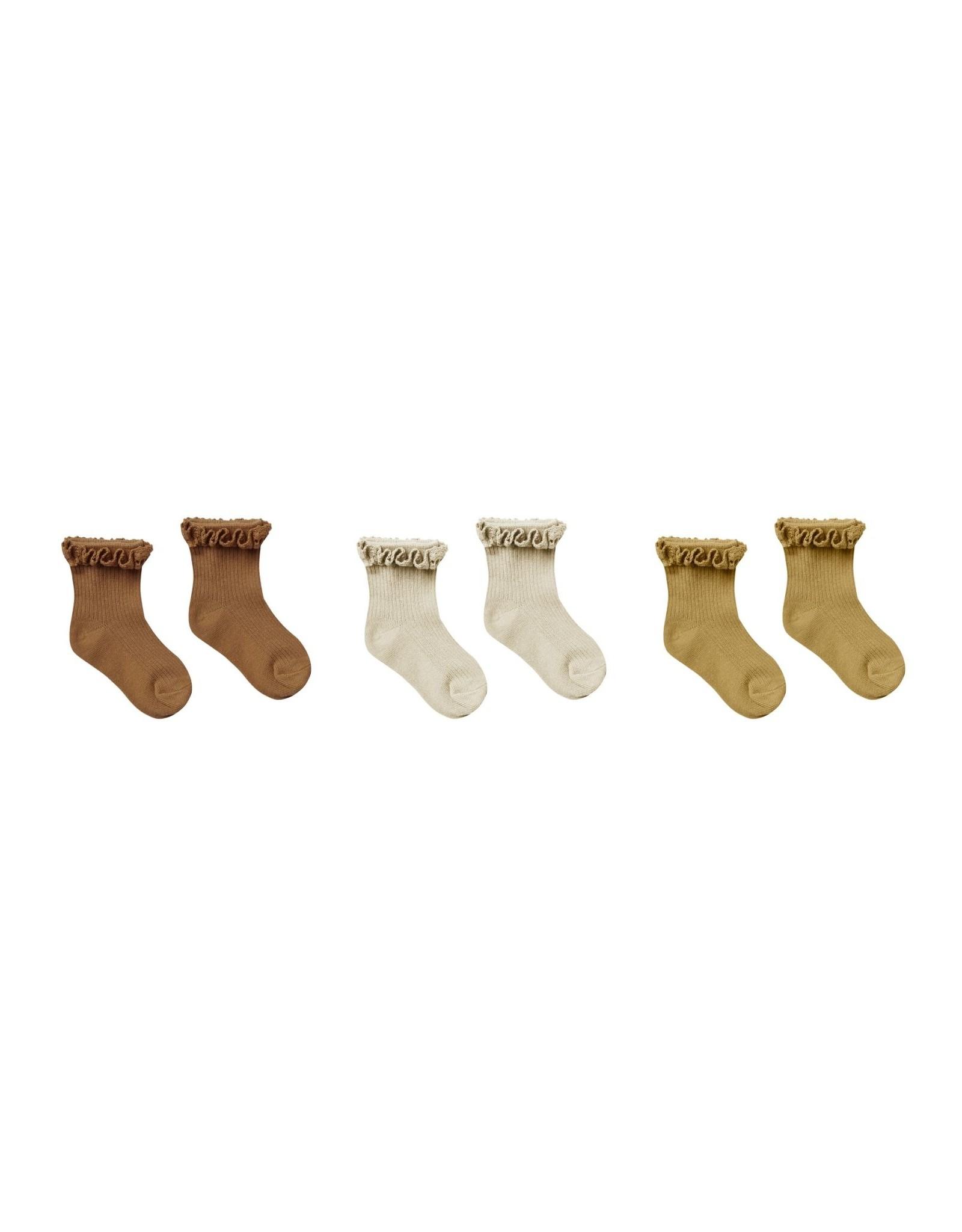 Rylee and Cru ruffle socks- 3 pk