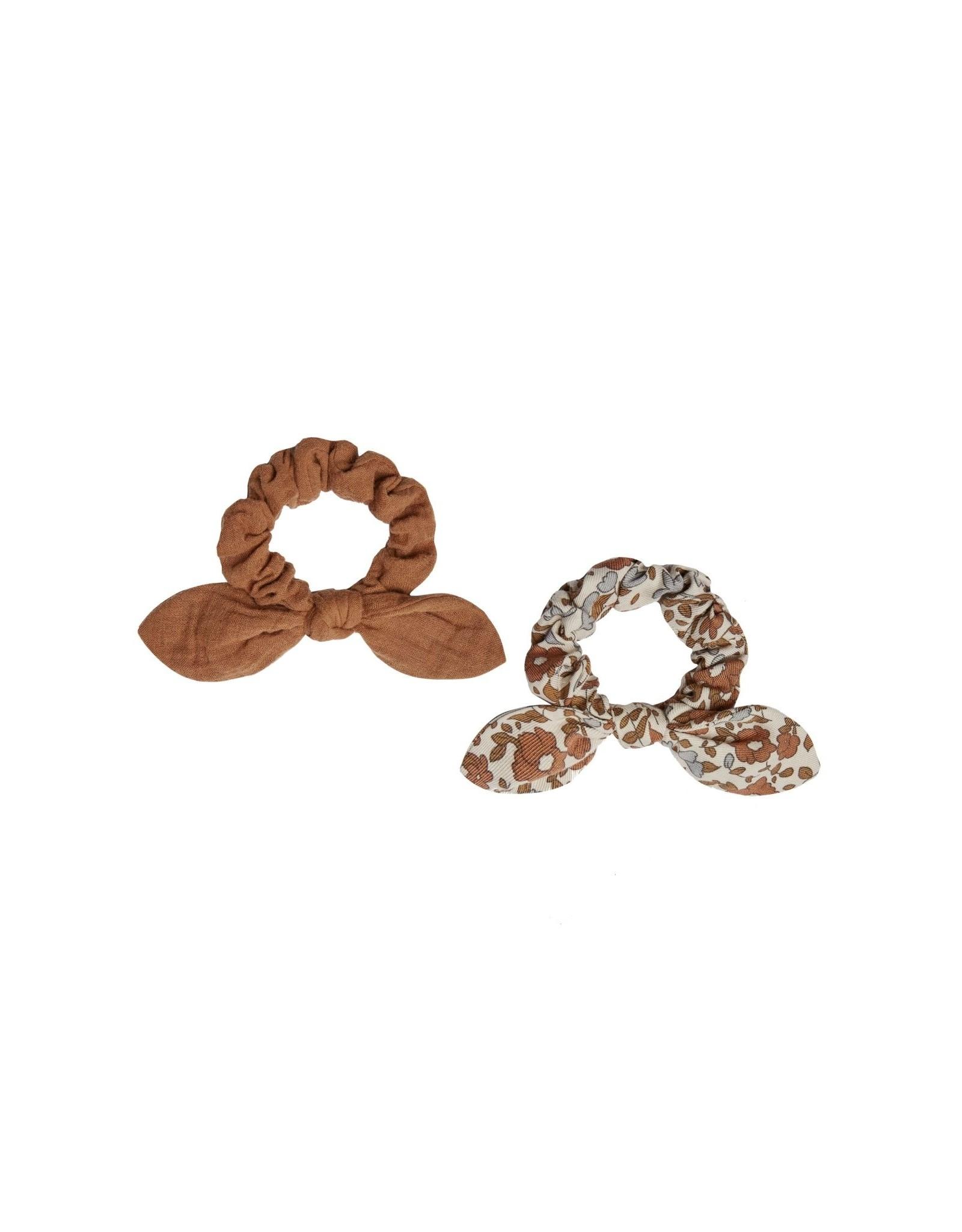 Rylee and Cru scrunchie set - rust/bloom