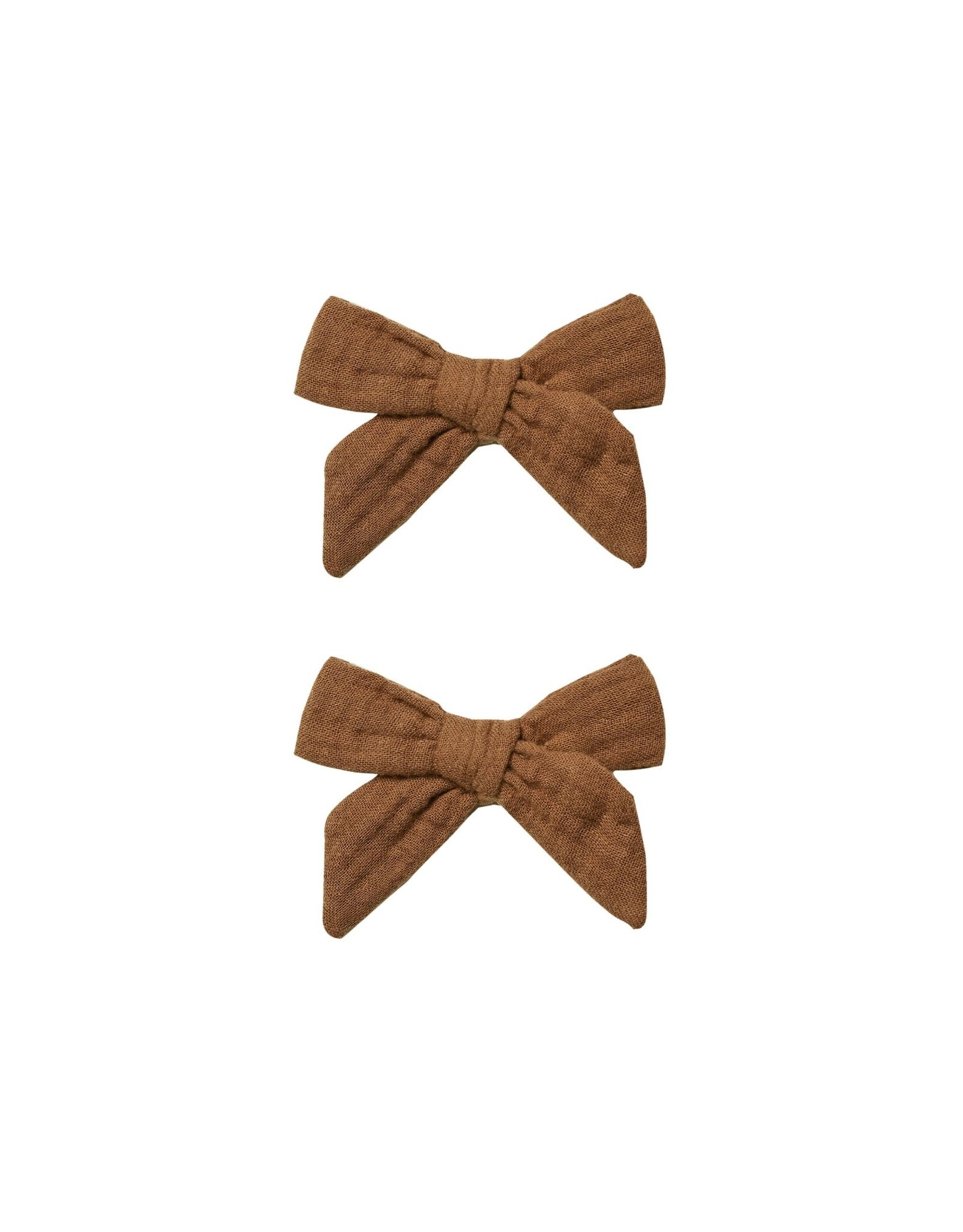 Rylee and Cru bow clip set- rust