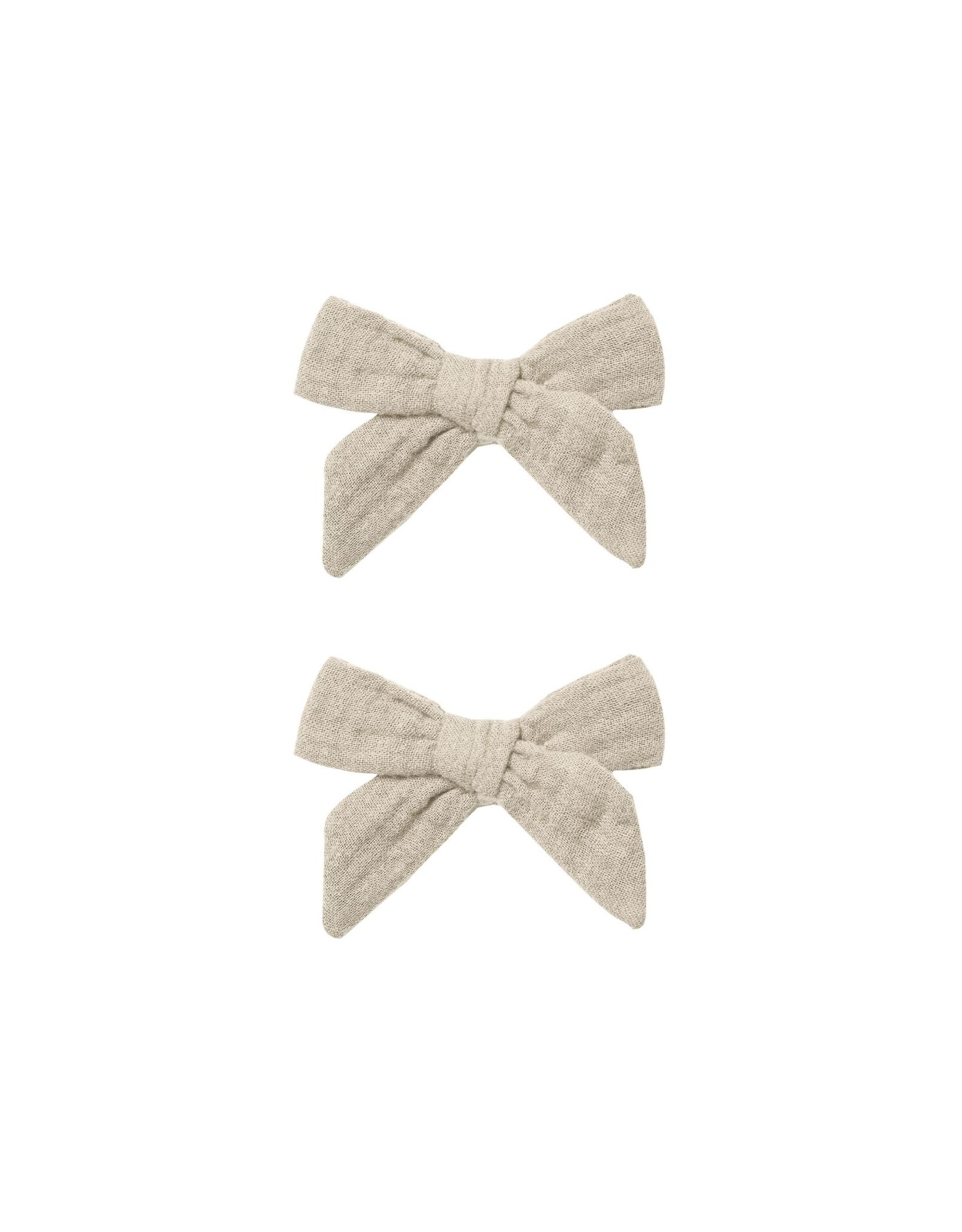 Rylee and Cru bow clip set- stone