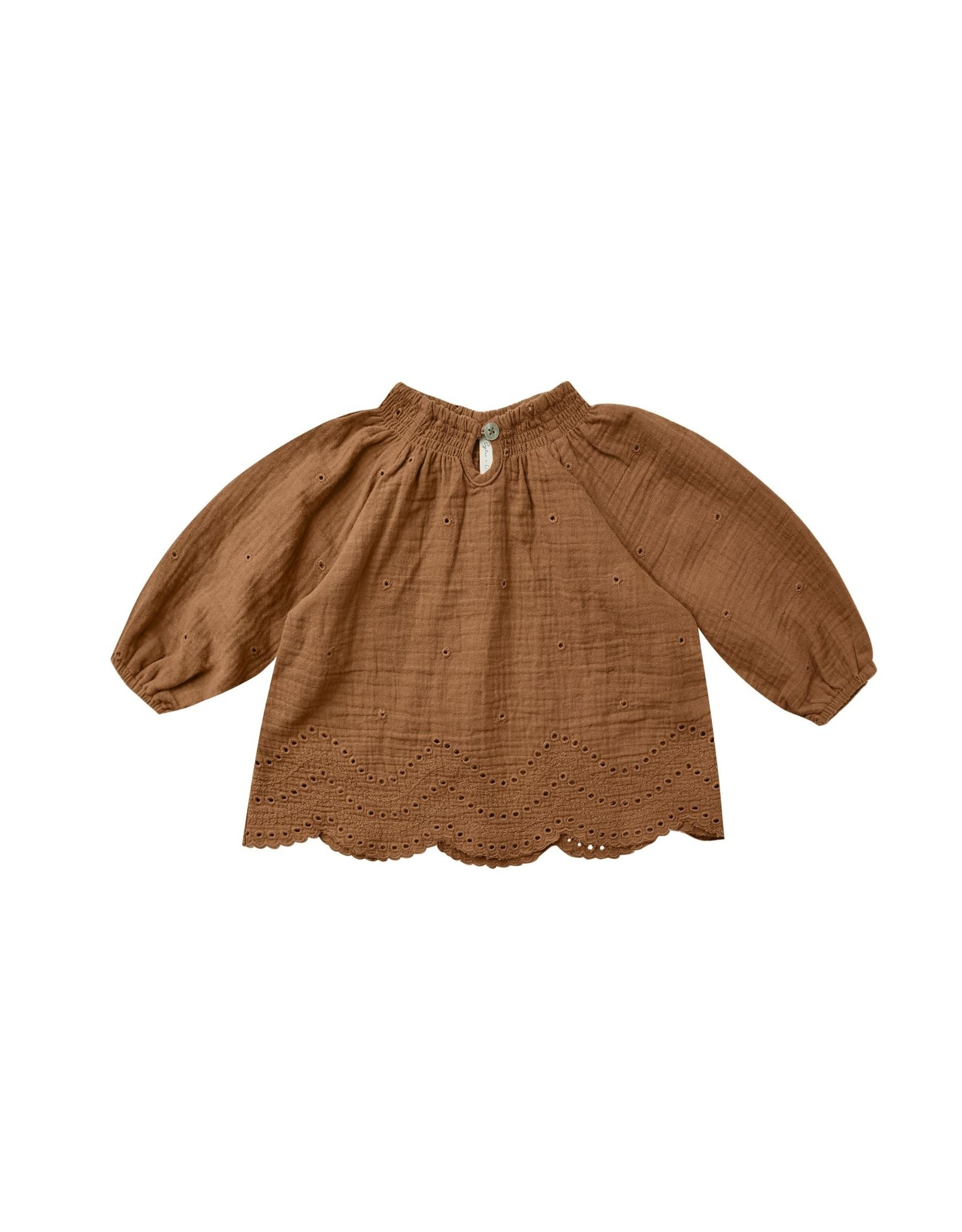 Rylee and Cru quincy blouse- rust