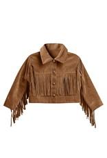Rylee and Cru fringe jacket- rust
