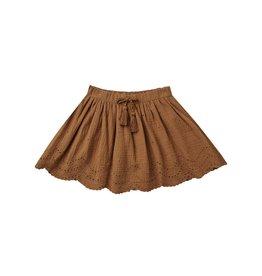 Rylee and Cru mini skirt- rust