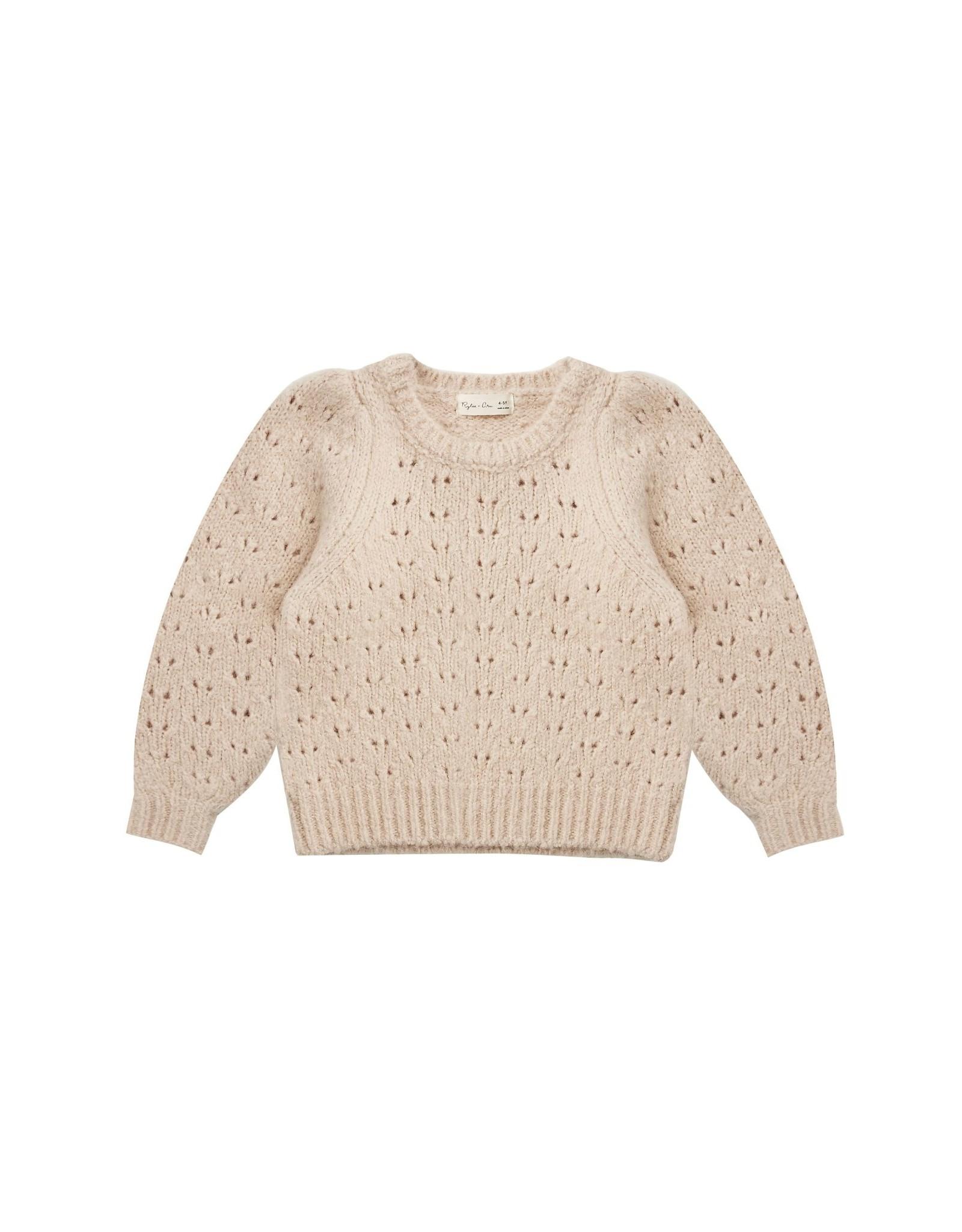 Rylee and Cru balloon sweater- beige
