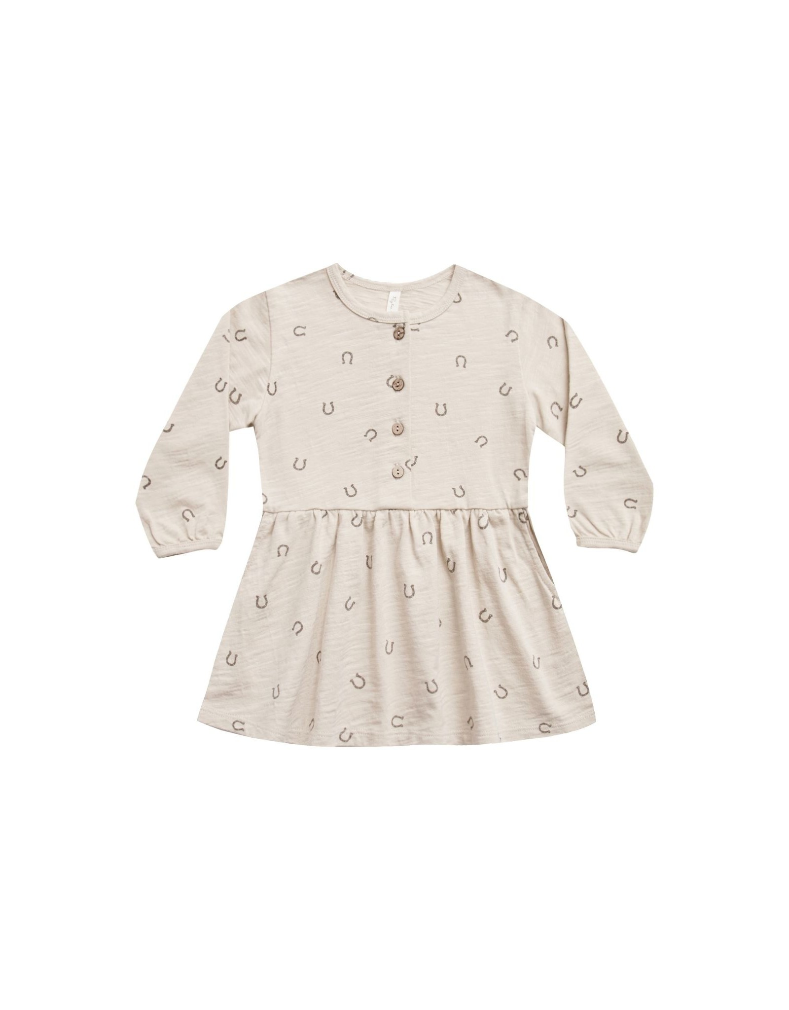 Rylee and Cru button up dress- horseshoes