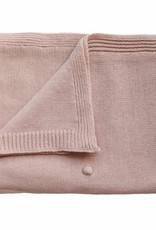 Mushie knitted dots blanket- blush