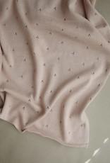 Mushie knitted pointelle blanket- blush