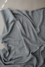 Mushie knitted pointelle blanket- gray