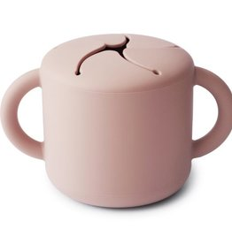 Mushie snack cup- blush