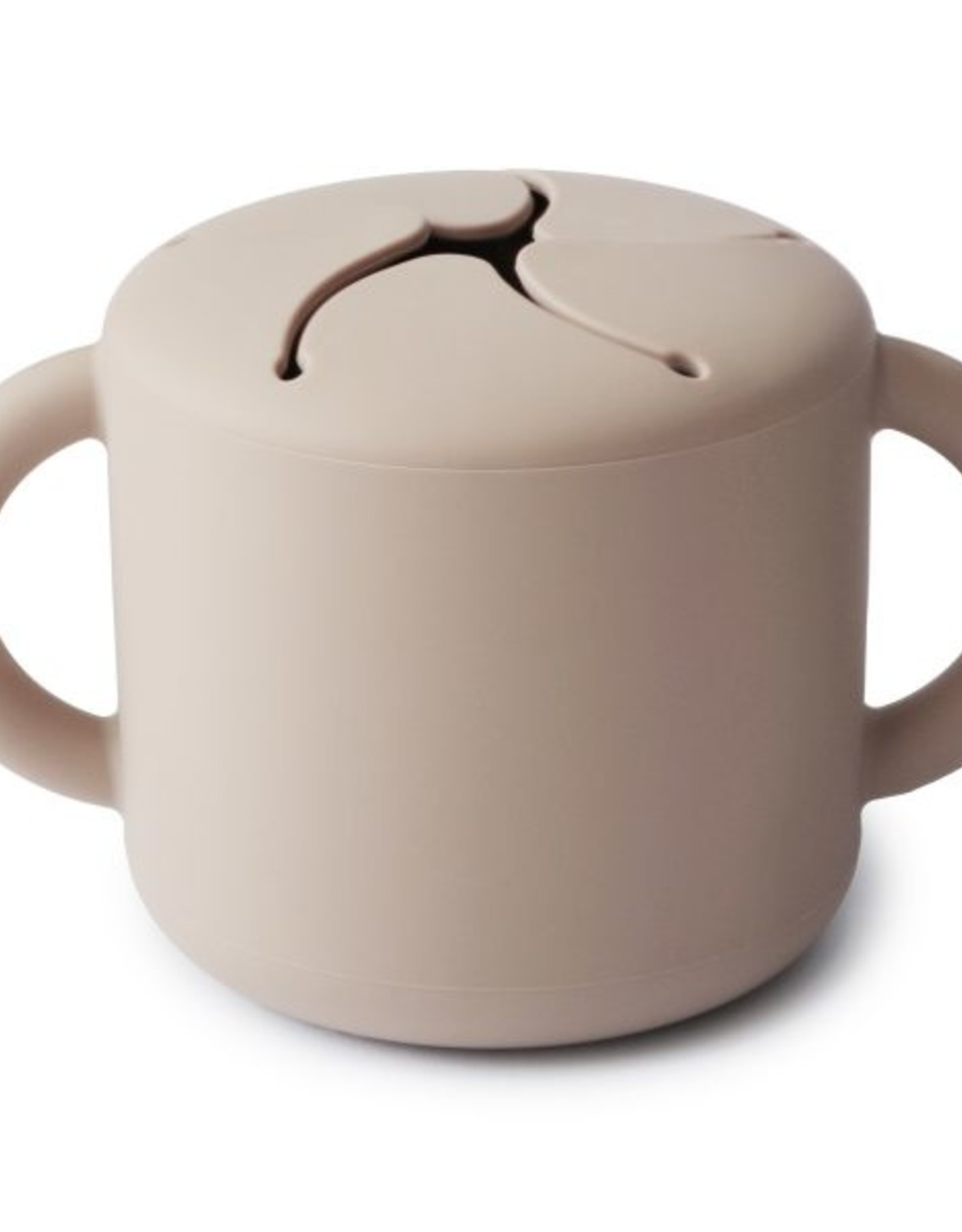Mushie snack cup- shifting sand