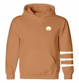 Tiny Whales red rock hoodie
