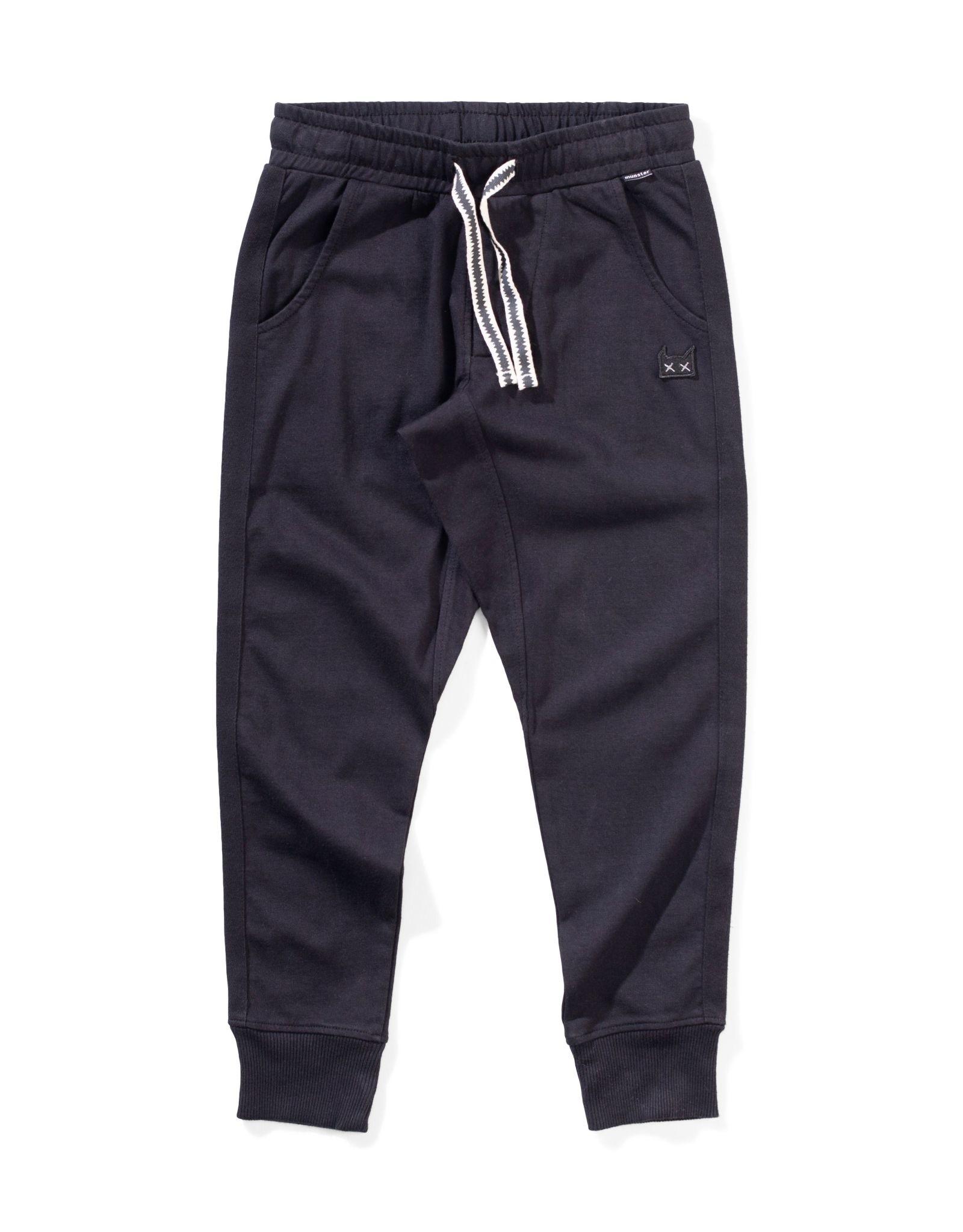 Munster Kids trackwear pant- black