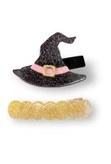 Lilies & Roses witch hat & wave hairclips