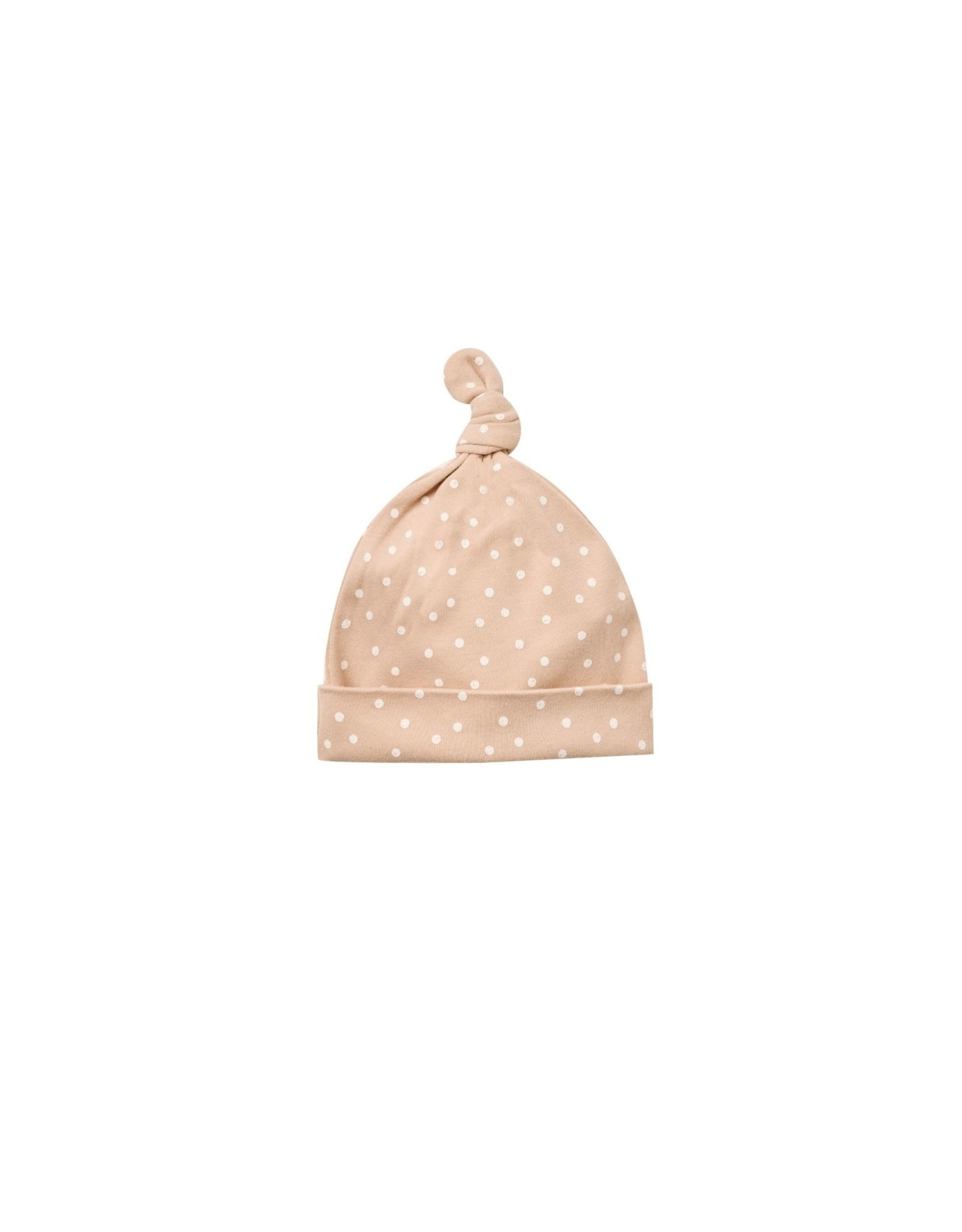 Quincy Mae knotted hat- petal dots