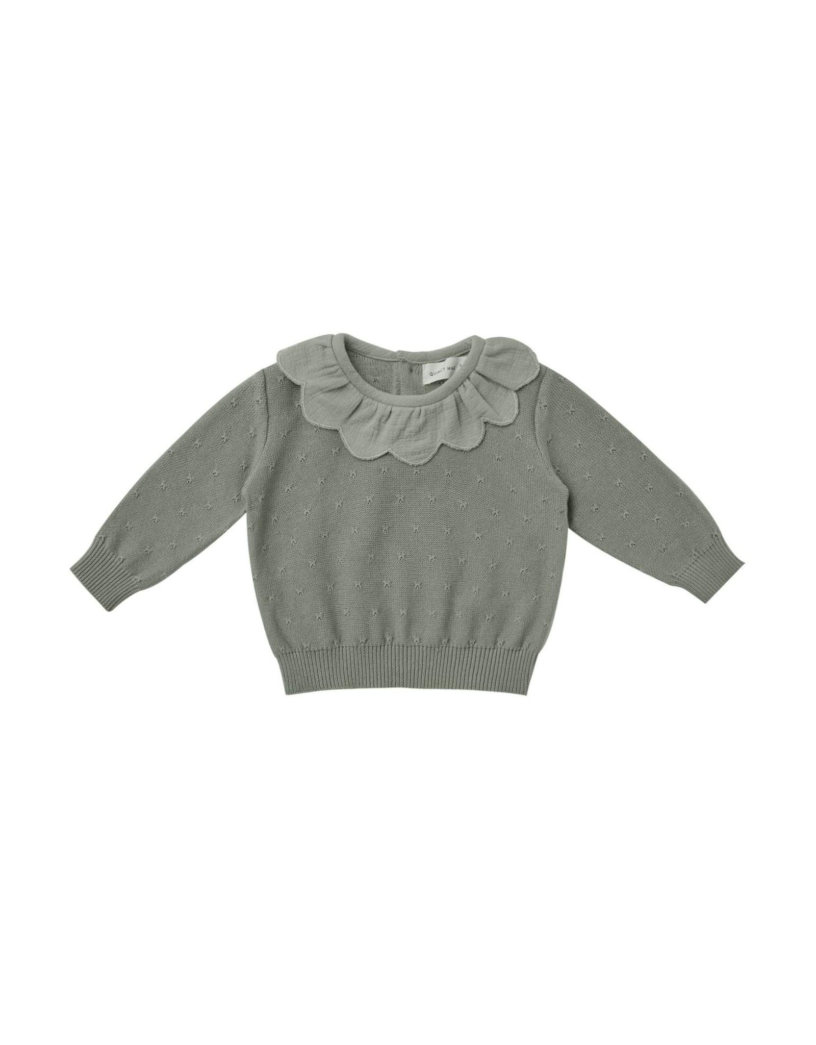 Quincy Mae petal sweater- basil