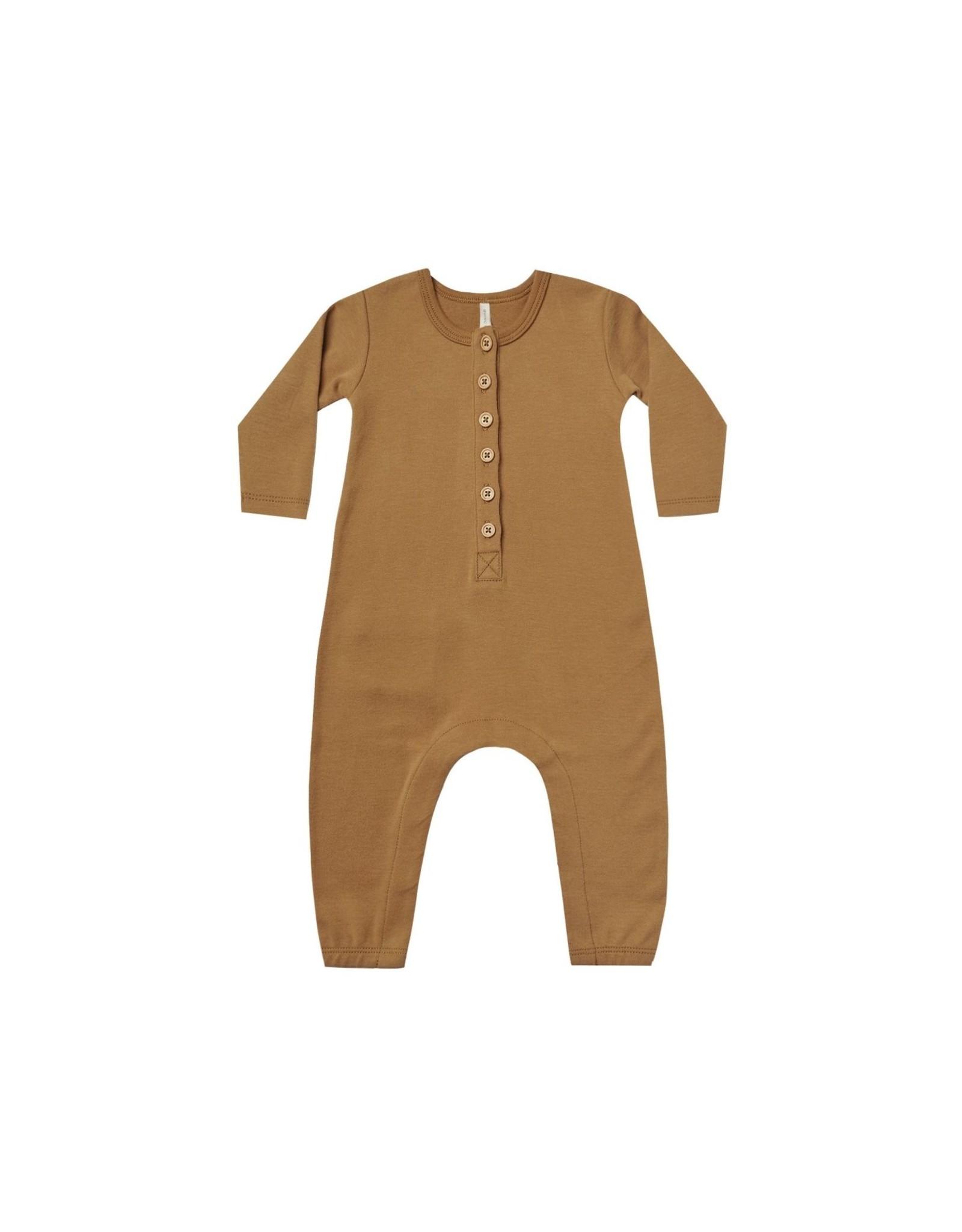 Quincy Mae ls jumpsuit- walnut