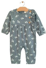 City Mouse button romper- teal