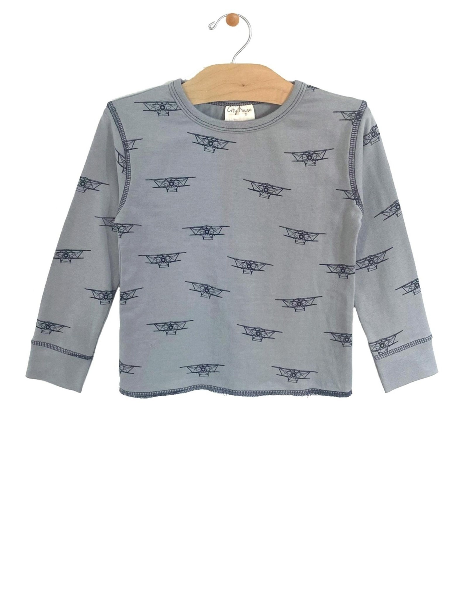 City Mouse stitch tee- biplanes