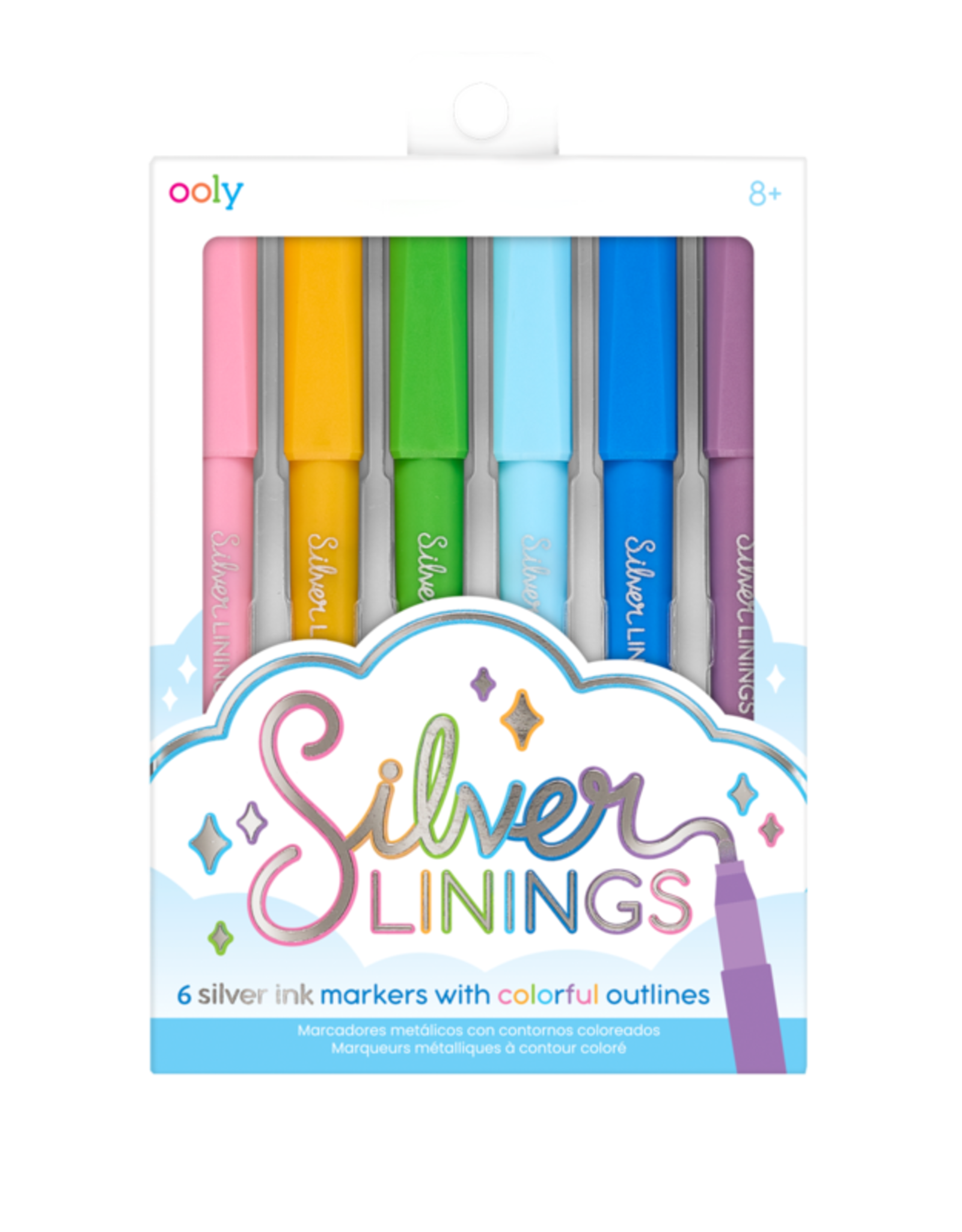 OOLY silver linings markers- set of 6