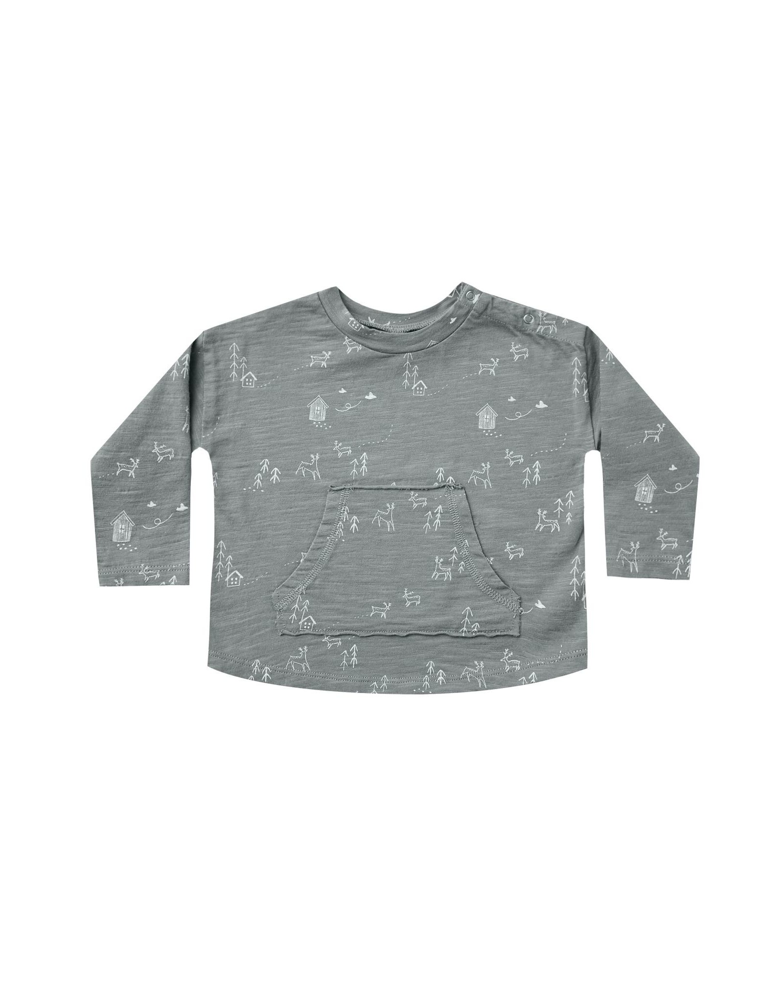 Rylee and Cru ls pouch tee- woods
