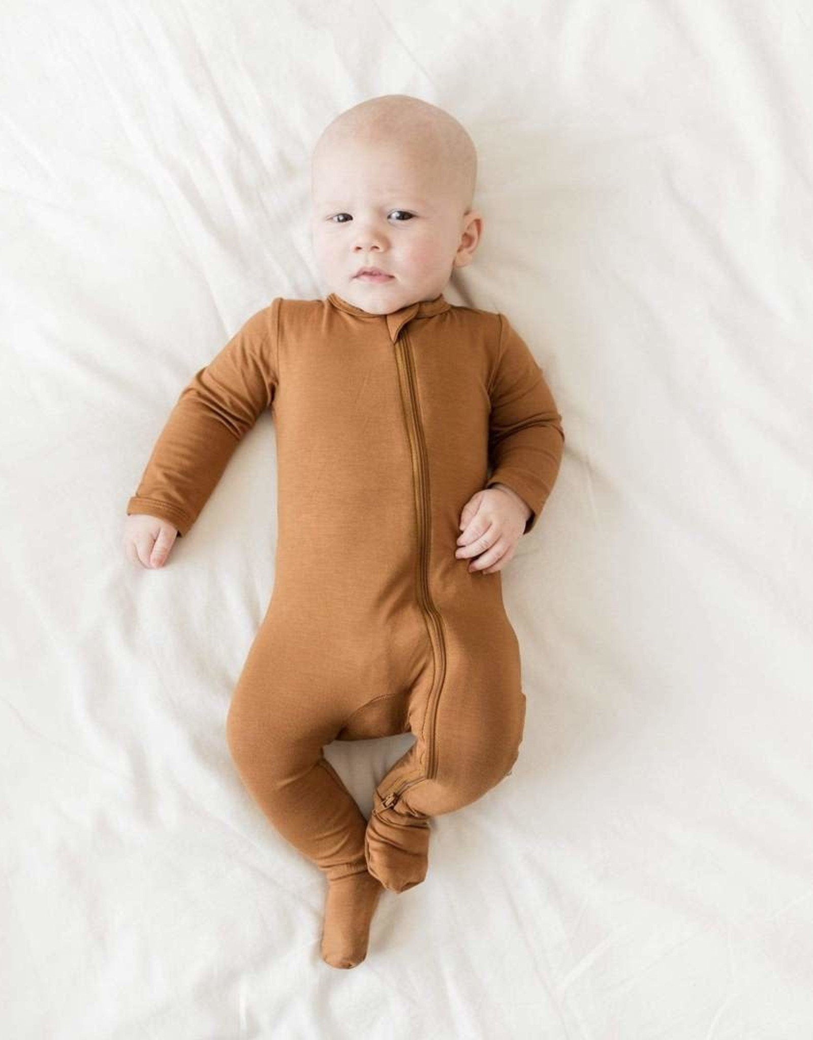 Kyte Baby zippered footie- nutmeg