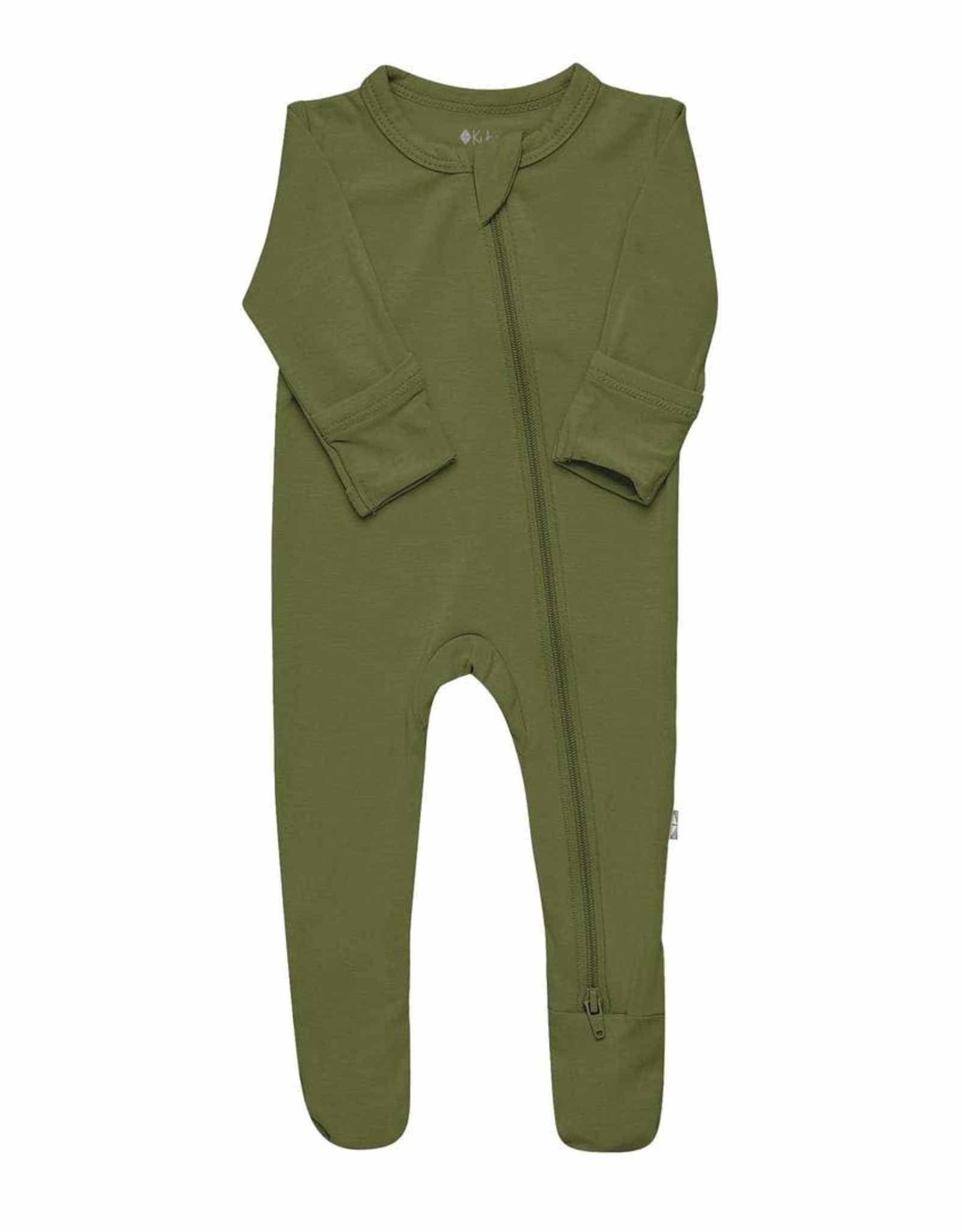 Kyte Baby zippered footie- olive
